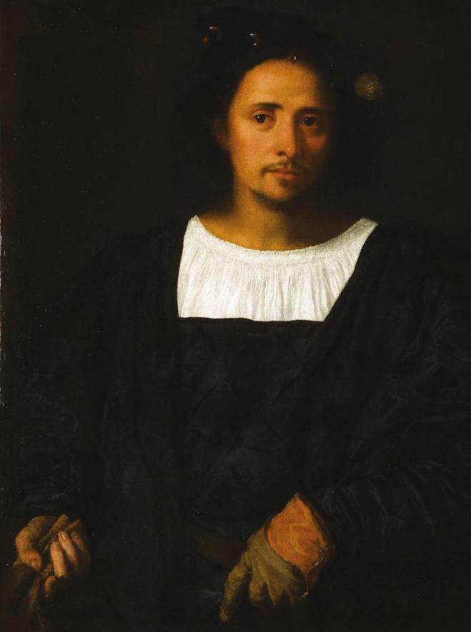 L'homme au gant noir, la star du Musée Fesch.